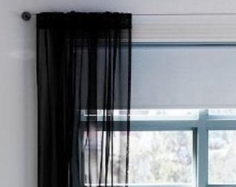 ArtOFabric Silky Sheer Chiffon Curtain Panel