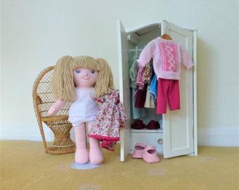 "Come and Dress Emily Rag Doll 40cm (16"") Rag Doll, Textile Doll, Cloth Doll, Fabric Doll, Soft Plush Doll, Designer Rag Doll, Dressable Doll"