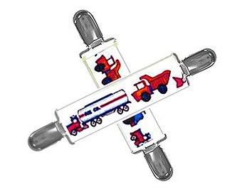 MITTEN CLIPS - TRUCKS - Plastic Insert Clips - Set of 2