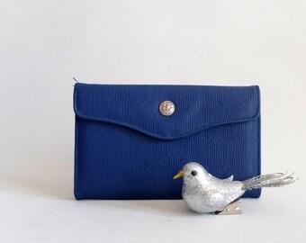 Vintage wallet, blue, 90s