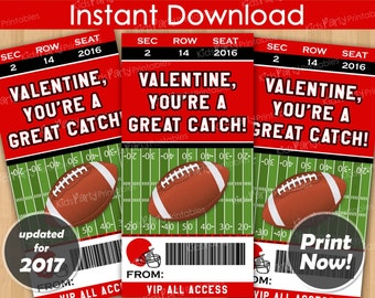 football valentines day cards instant download football valentine cards printable sports valentines kids