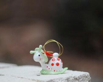 Vintage Suzy's Zoo Snail Christmas Ornament / Snail Ornament / Snail Christmas Ornament / Suzy's Zoo Snail Ornament / Snail Gift