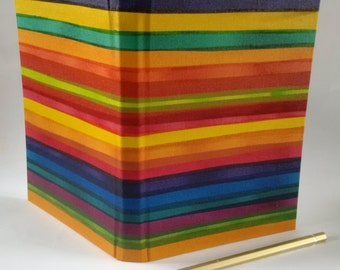 2017 A5 calendar diary week to an opening coloured multi colour stripes