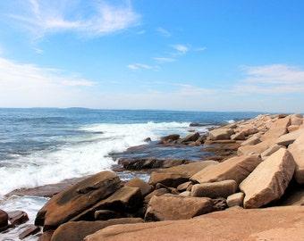 Acadia Photo Print, Acadia National Park, Baker Island, Seascape, Rocky Coast, Maine Photo Print