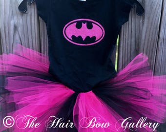 Batgirl inspired Costume - Batgirl inspired Tutu Set