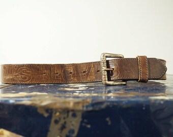 20% off * Vintage leather belt-90's Levis