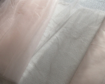 """Nylon Tulle Net Fabric, Blush color; 54"""" wide netting priced per 1 yard"""