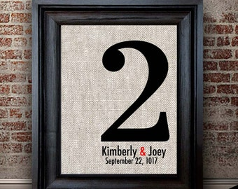 2 Year Anniversary Gifts | Anniversary Gift for Her | Newly Married Gift | | 2 Years Together | Traditional Gift | Cotton Keepsake Gift