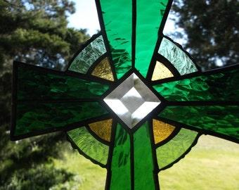 Medium Size green Celtic Cross