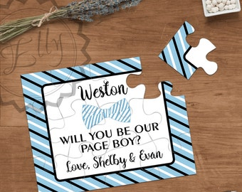 Page Boy Gift Puzzle Invitation, Asking Ring Bearer, Personalized Page Boy Puzzle, Will You Be Our Ring Bearer, Page Boy Proposal Weddings