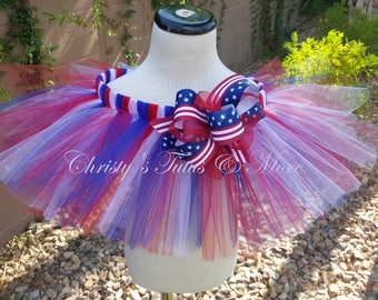 Fourth of July Tutu/4th of July Tutu/July 4th Tutu/Independence Day/Patriotic Tutu/Red white and blue tutu/Stars and Stripes/Flag