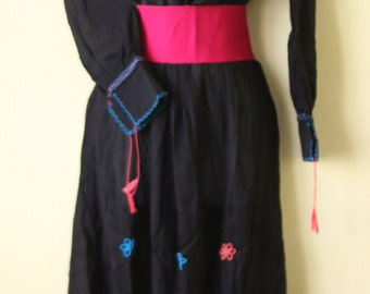Dress handmade Mexican of blanket with beautiful embroidery