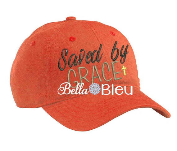 Baseball Hat Cap Embroidery Design Saved By Grace Machine