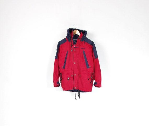 SALE - 90s Bergans of Norway Outdoor Hidden Hoodie Kids Jacket / Size 12 - 13 yo