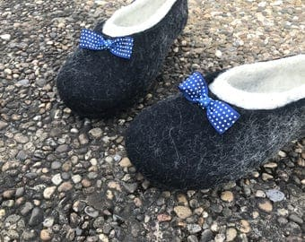 Men's slippers weddings gift home shoes for him felted shoes