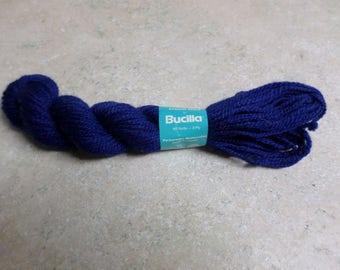 Vintage Bucilla Persian 3 Ply Needlepoint Crewel Yarn 1 Skein Blue