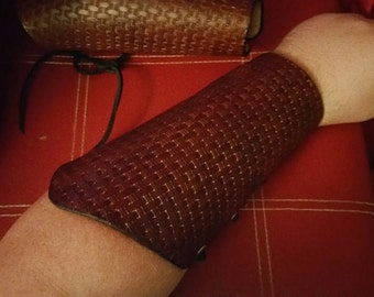 Basket Weave Pattern Bracers