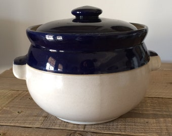 Vintage Denby Bean Pot Crock Soup Tureen