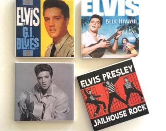 Ceramic Tile Coasters - Elvis