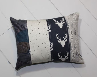 Quilted Nursery Pillow in Navy // FREE SHIPPING