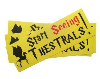 Start Seeing Thestrals! Harry Potter bumper sticker