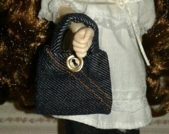 Handbag ESC 1/6 Blythe, Pullip, Barbie, etc ... Handmade