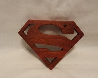 Wooden Superman Art