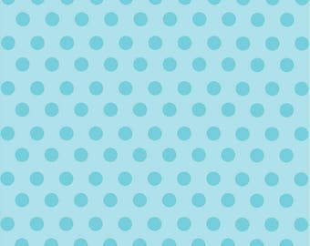 Light aqua with aqua polka dot pattern craft  sheet - HTV or Adhesive Vinyl -  medium polka dots HTV2334