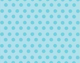 Light aqua with aqua polka dot pattern craft  sheet - HTV or Adhesive Vinyl -  medium polka dots HTV2334