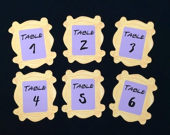 Friends TV Show Table Number Signs