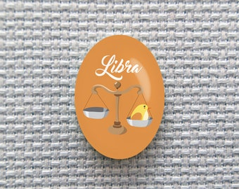 Magnetic Zodiac (Libra) Needle Minder for Cross Stitch, Embroidery, & Needlecrafts (18mmx25mm with Strong Magnet)