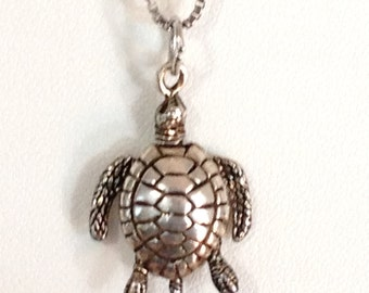 Honu Hawaii Articulated Sea Turtle Necklace 925 Sterling Silver gw15-993