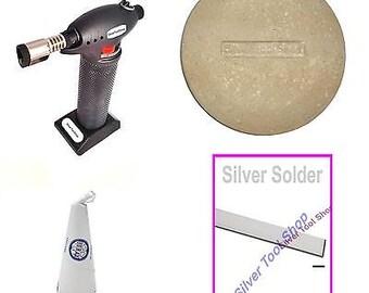 Solder Kit Starter Kit For Soldering Jewellery Brand Includes Torch, Flux Dish,