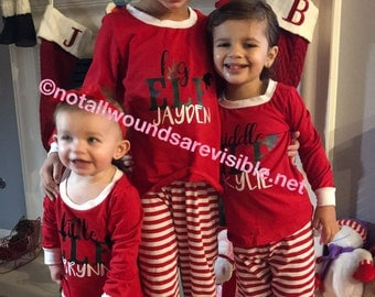 Family christmas pajamas for children siblings cousins or even friends