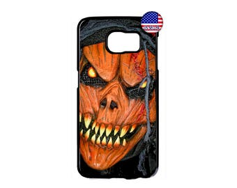 Funny Pumpkin Vampire Halloween Scary Hard Rubber Case Cover For Samsung Galaxy S8 S7 S6 Edge Plus S5 S4 S3 NOTE 5 4 3 2 iPod Touch 4 5 6