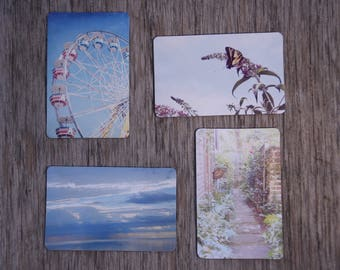 Set of 4 refrigerator magnets, nature photography, photo magnet, home decor, nature,
