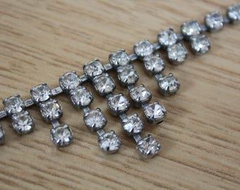 1950s vintage necklace diamante necklace diamante necklace 50s rhinestone necklace diamante necklace evening chandelier necklace 50s evening