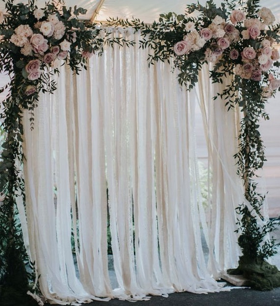 Cotton Amp Lace Wedding Backdrop