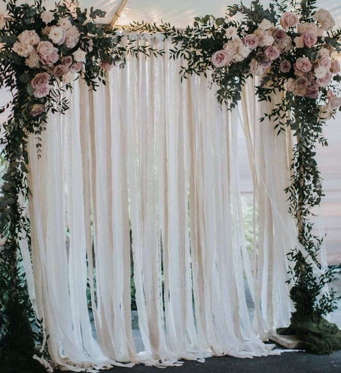 Cotton Fabric Wedding Backdrop