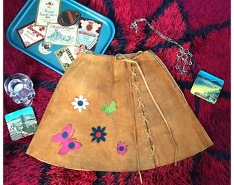 60's suede skirt XS
