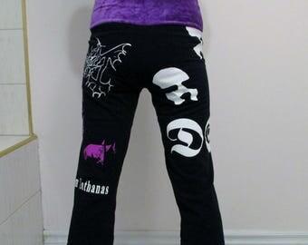 Mayhem Capri Pants DIY Women's Black Metal Clothing
