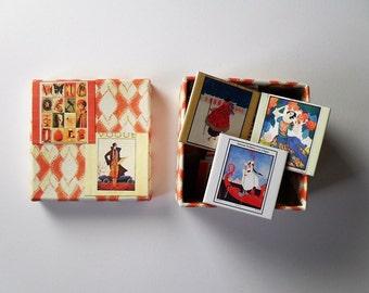memory game vintage vogue magazin illustrated matching game