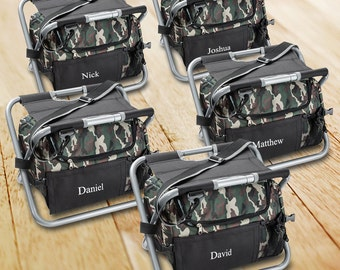 Camouflage Sit N Sip set of 5 Cooler Chairs for Groomsmen Coolers - GC1102x5