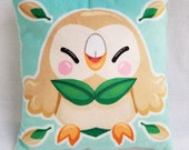 Rowlet Pokemon Sun and Moon Grass Starter Plush Pillow