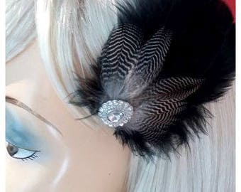 Feather acessories for your hairdo! Black feathers!