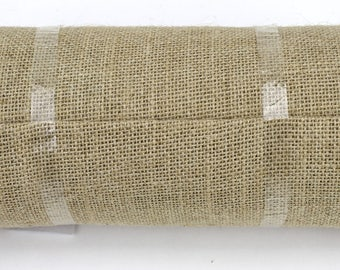 "9"" by 10yards burlap fringe edge ribbon. 2 colors available (RBF09-xx)"