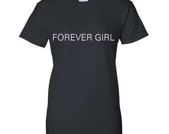 Forever Girl TShirt in Black, Grey, Pink or Blue