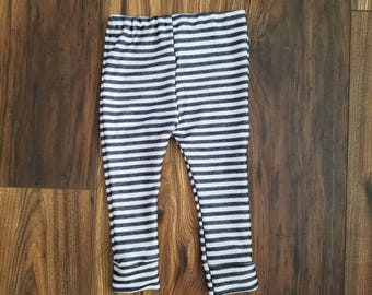 Blue striped leggings, 4th of July leggings, gender neutral baby leggings, gender neutral toddler leggings, 4th of july outfit,