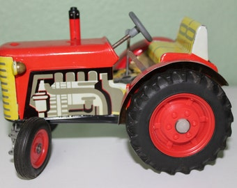 Zetor Wind Up Tractor Toy Circa 1970's