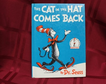"Vintage Dr. Seuss ""The Cat In The Hat Comes Back"" Book  C.1958"